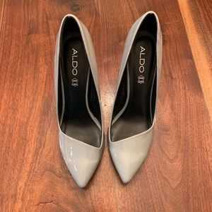 Grey patent leather heels Aldo size 8.5 or 8 1/2